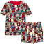 NWT Disney Store MARVEL Spider-Man Superhero PJ Pals Sleep Set Pajamas Boys 4 4T
