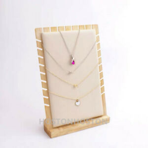 TOP QUALITY Wooden Multi Tiers Pendant Necklace Jewellery Display Stand Show