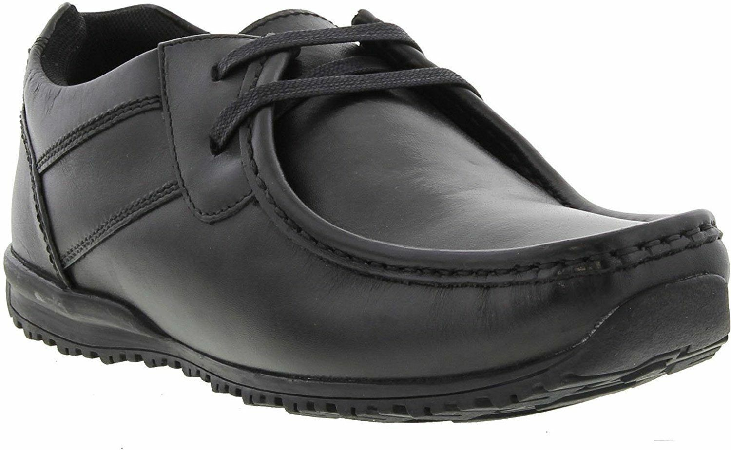 Hombre IKON LEATHER FASHION SMART Zapatos STYLE TIDE - Negro Negro Negro 5ac4d6