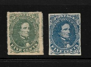 CSA Confederate States #1 and #4, Mint but Faulty!