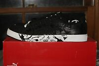 Men's Puma Benny Graphic Black White 8.5 9 9.5 10 11 13 Sneakers Shoes
