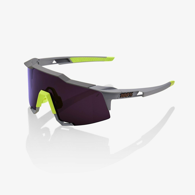 100%  Percent Cycling Sunglasses Speedcraft Soft Tact Midnight Mauve Purple Lens  shop clearance