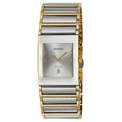 NWT Men's Rado Integral Jubile´ R20748702 Two Tone SS Diamond Accented Watch