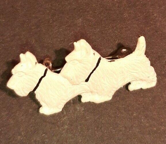 Vintage Brooch - White Scottie Dog Novelty Brooch… - image 2