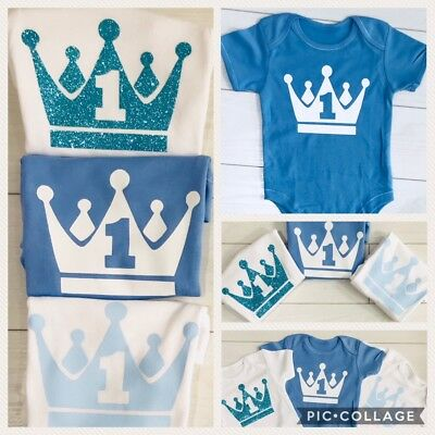 Luxury Boys 1st First Birthday Vest Top T-Shirt Outfit Cake Smash Prop 12-18