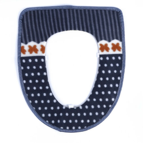 Bathroom Dot Pattern Toilet Seat Cover Closestool Washable  Warmer Mat Cushion