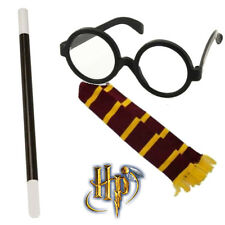 Mens Womens Harry Potter Wizard Kit & FREE Wand Witch Fancy Dress Glasses Scarf