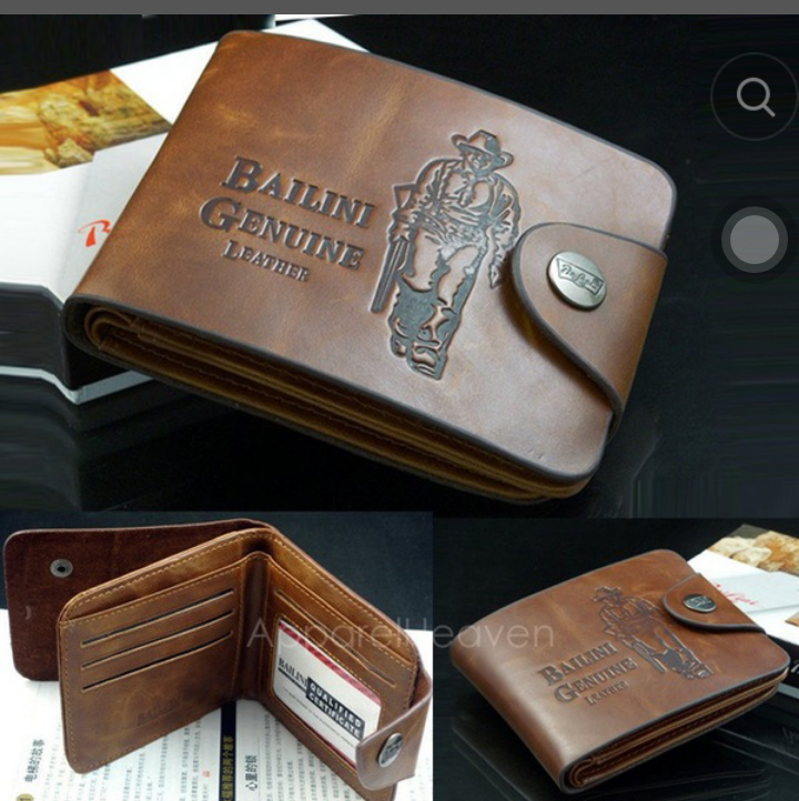 USA SHIP New Men's Classic Leather Bi-fold Credit/ID Holder Slim Coin Purse