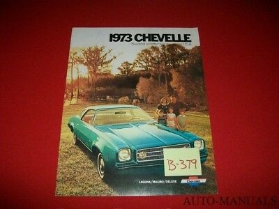 1973 Chevrolet Chevelle Malibu Laguna Sales Brochure CH