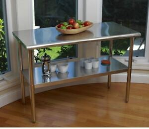 Small Stainless Steel Table Top Tall Kitchen Island Counter Work - Tall stainless steel table