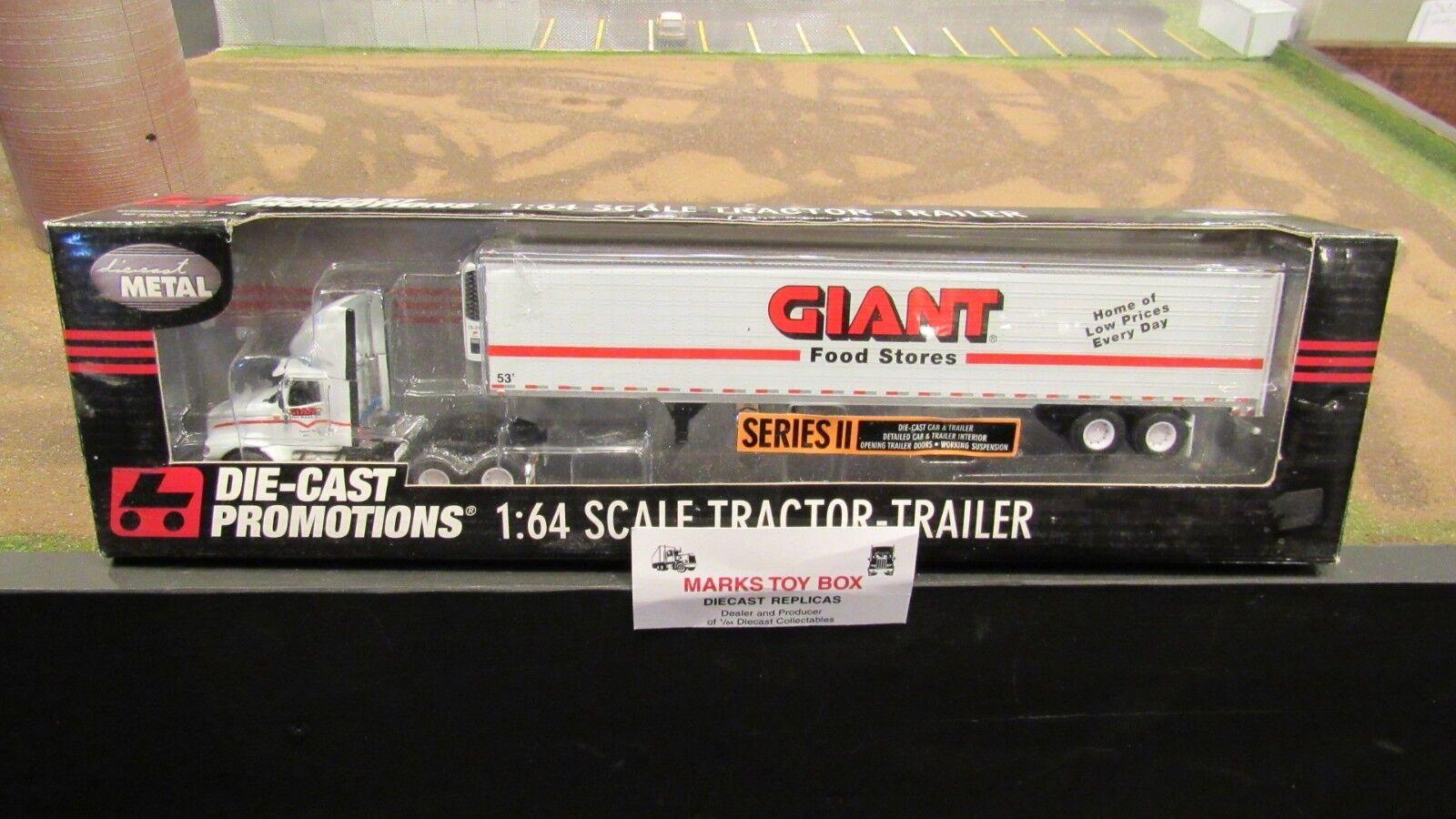 DCPgigante alimentos ih 9200 Semi CAB camioneta Reefer Van Trailer 1 64 FC & 53'