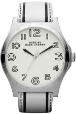 Marc Jacobs Ladies Trompe Henry White Leather watch MBM1230 NEW!  Fast Shipping