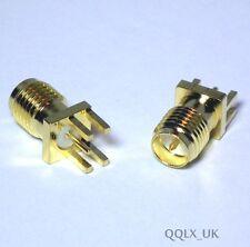 """Conector macho RP-SMA Pin PCB conector del adaptador de montaje Borde De Soldadura 0.062"""" - vendedor de Reino Unido"""