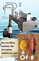 Bottle Capping Machine,liquid Sauce Shampoo Filling Machine With 1 Tube 10-100ml