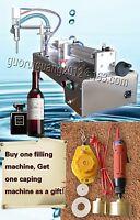 Bottle Capping Machine,liquid Sauce Shampoo Filling Machine With 1 Tube 10-100ml