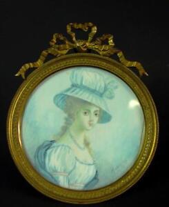 seltenes-Miniatur-Gemaelde-Empire-1820-sehr-schoen