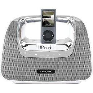 Memorex-MI3X-SIL-Mini-Move-Portable-Boombox-Ipod-Dock-FM-Radio-Remote-READ-CONDI