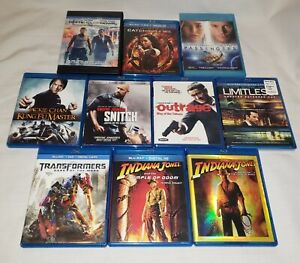 Lot-Of-10-Bundle-BLU-RAY-Action-Movies-Indiana-Jones-Transformers-Limitless