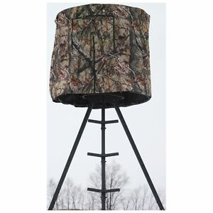 Tripod Deer Stand Blind Hunting Universal Round Camo