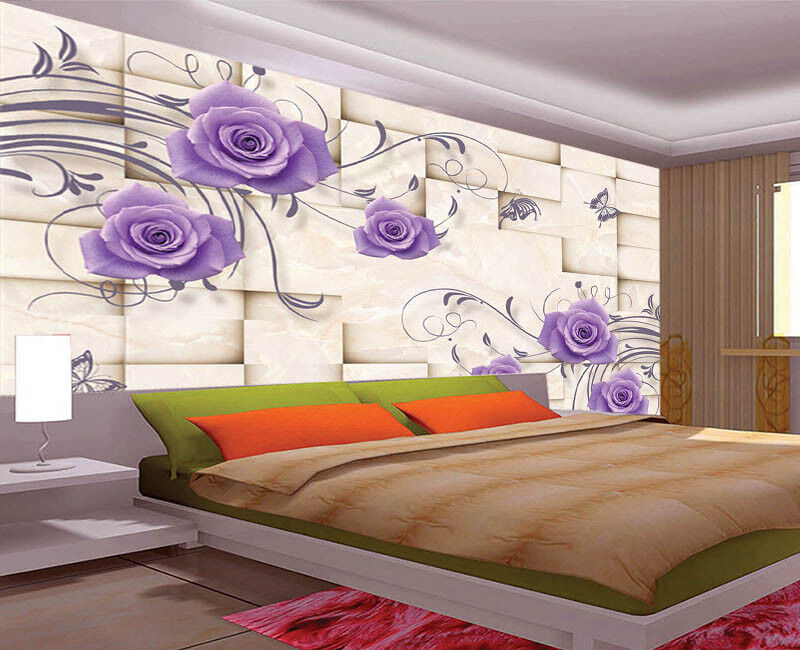 Peaceful Pulpy Lotus 3D Full Wall Mural Photo Wallpaper Printing Home Kids Decor
