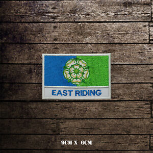 EAST-RIDING-Flag-With-Name-Embroidered-Iron-On-Sew-On-Patch-Badge