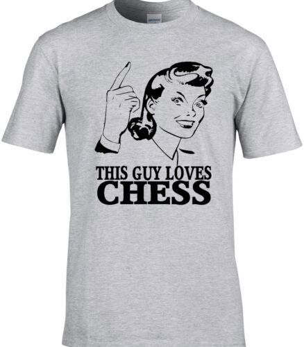 Chess Mens T-Shirt Board Game Player Strategy Funny Birthday Gift Idea Poker