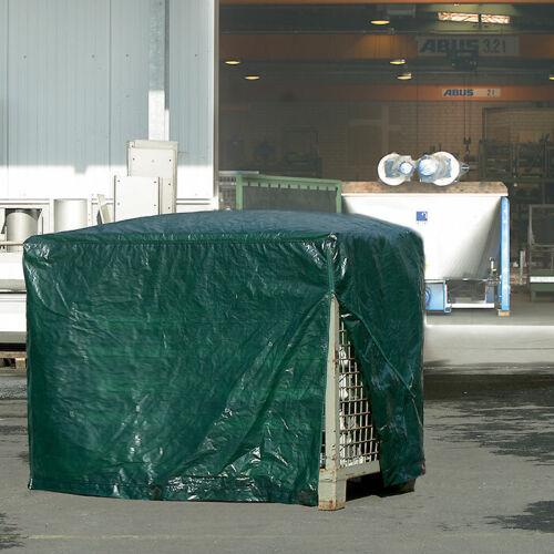 125 x 85 x 98 cm Gitterbox Abdeckhaube 120 g//m² Grün RAINEXO