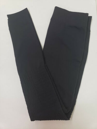 HUE Cozy Moto Brushed Lining Seamless Leggings Black M//L # 31
