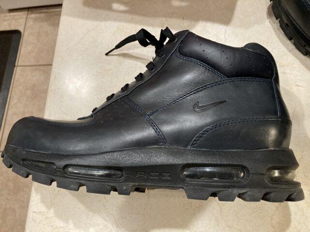 Men's NIKE AIR MAX Goadome ACG 3 Dark obsidian/ Black Leather Boots SIZE 11