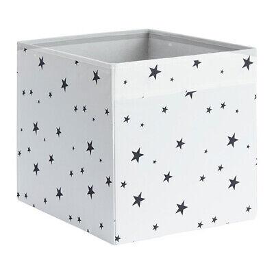 schwarz NEU weiß Sterne KALLAX IKEA Korb Box DRÖNA 33x38x33cm Fach