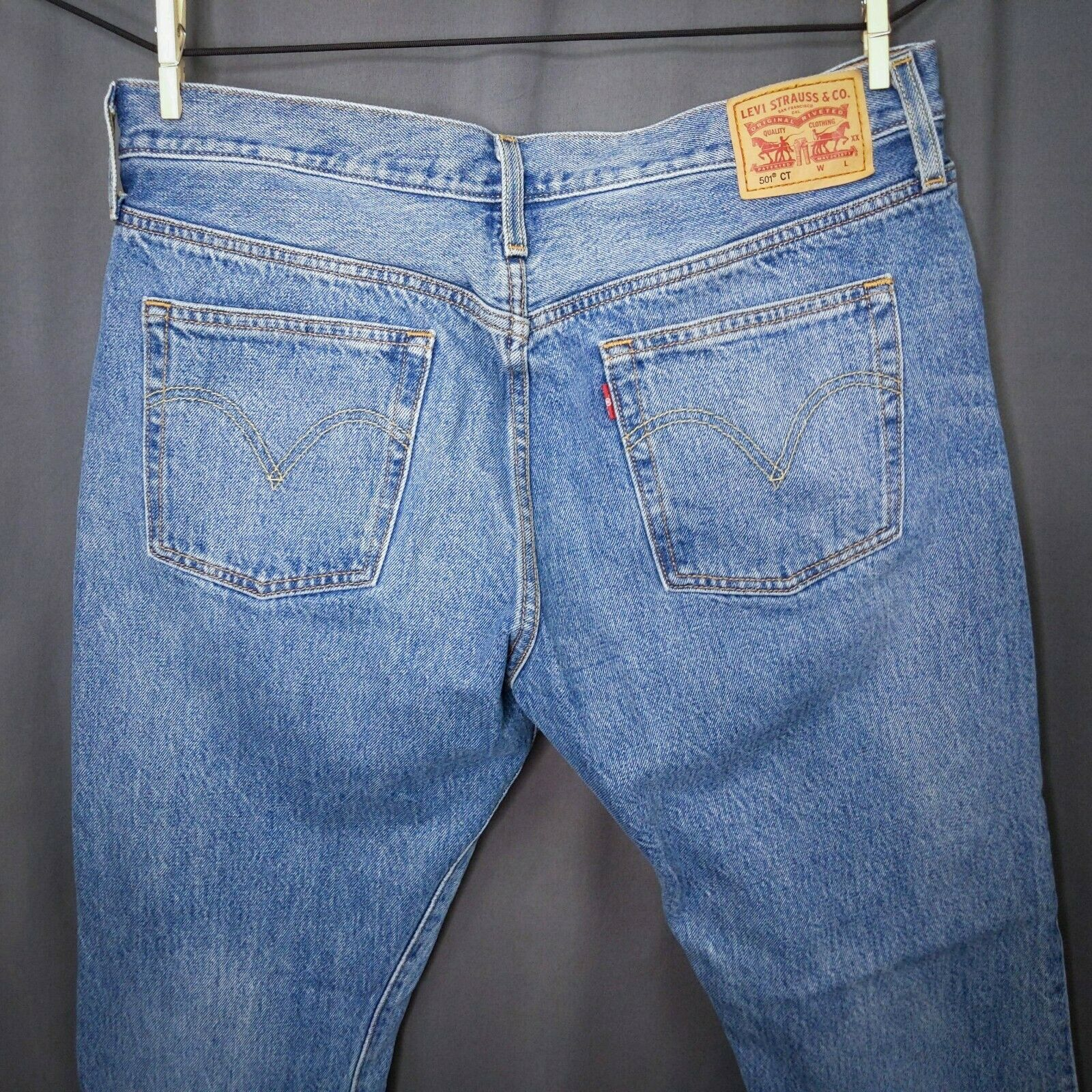 Levis CT 501 Womens Cropped Jeans Size 31x29 Cher… - image 4