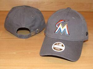 best website 375a8 19b44 Image is loading Miami-Marlins-Team-New-Era-9Twenty-Strapback-Hat-