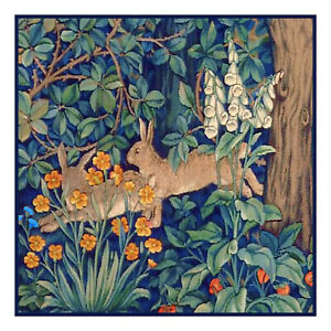 William-Morris-Forest-Rabbits-from-Tapestry-Counted-Cross-Stitch-Chart-Pattern