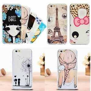 Painting-Soft-TPU-Back-Case-Cover-Protector-For-Apple-iPhone-6-4-7-034-Multicolor