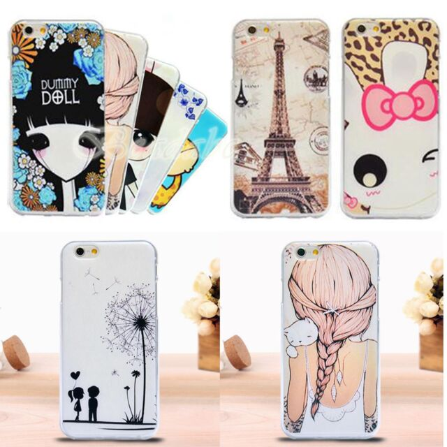 """Painting Soft TPU Back Case Cover Protector For Apple iPhone 6 4.7"""" Multicolor"""
