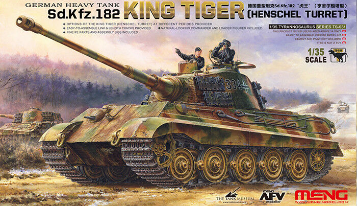 Meng Model 1 35 - King Tiger Sd.Kfz.182 (Henschel Turret) MNGTS-031