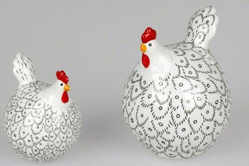 Formano 1 Deko-Huhn Keramik gefertigt handbemalt Trend-Style Tischdekoration