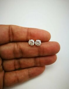1-Ct-Diamond-Solitaire-Stud-Earrings-Women-039-s-In-14k-White-Gold-Finish