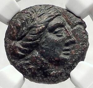 LARISSA-Thessaly-Ancient-THESSALIAN-LEAGUE-Greek-Coin-APOLLO-ATHENA-NGC-i72735