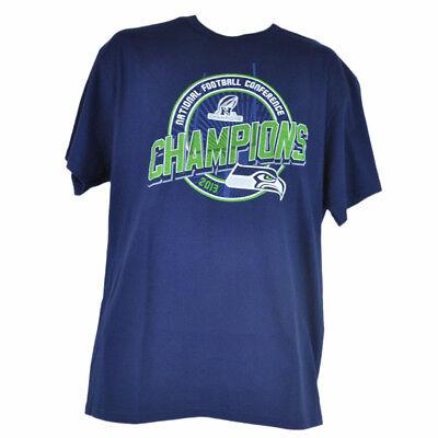 Baseball & Softball Weitere Ballsportarten Herzhaft Nfl Seattle Seahawks Nfc 2013 Champions Marineblau T-shirt Herren Championship