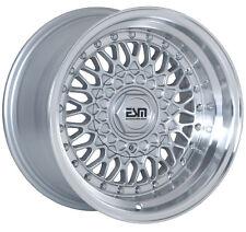 "RS STYLE Wheels Rims Silver 15x9 5x100 Wheels Rims VW Jetta GTI Golf  4"" LIP"