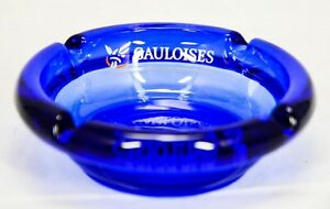 in blau Aschenbecher original Gauloises 10,6 x 3,4 cm
