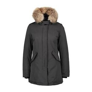 matogla h4f damen arctic winter parka mantel jacke black schwarz ech fell kapuze ebay. Black Bedroom Furniture Sets. Home Design Ideas