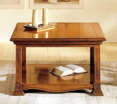 Tavolino Quadrato In Legno Impero C/intarsi X Divano Soggiorno Salotto H791