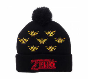 Image is loading New-Legend-of-Zelda-Cuff-Pom-Beanie 43fcdcd8a864