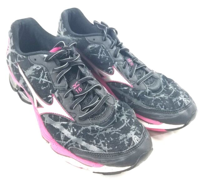 Mizuno Wave Creation 16 Black Running Athletic Sneaker FCL 1214 Women's US 11
