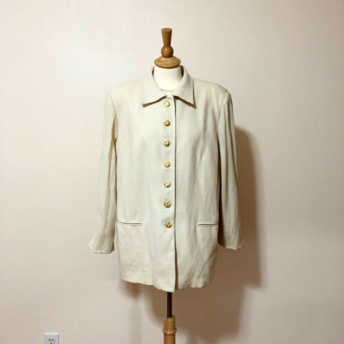 White Coat Ellen 16 Wool Keye Sz Feature Blazer ORzTTqZwS