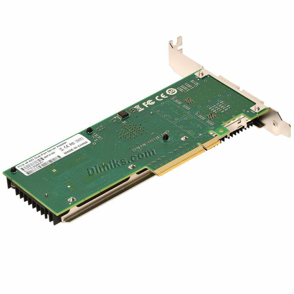 40G Server Network Card 40GB, 2x QSFP+ ports (Intel XL710BM2 Based)