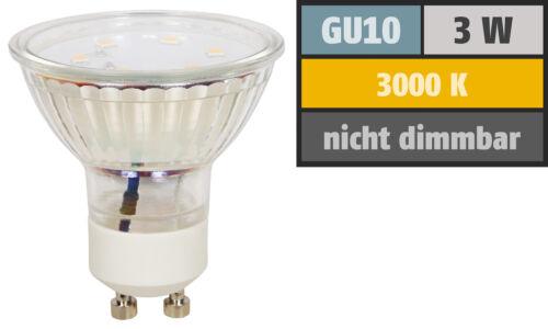 EEK A+ Gu10 250 Lumen 230Volt 3W SMD LED Leuchtmittel 3000K 4000k