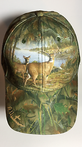 "Hautman Brothers Deer Hunting Camo Cap Polyester Sublimated Design ""BLOWOUT SALE"